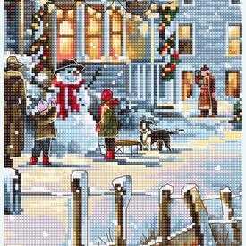 Christmas Eve - borduurpakket met telpatroon Luca-S |  | Artikelnummer: luca-b595