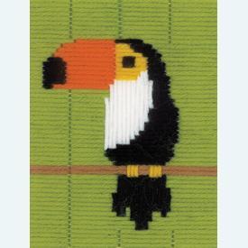 Toucan - Vervaco borduurpakket in platsteek, voor kinderen |  | Artikelnummer: vvc-179552