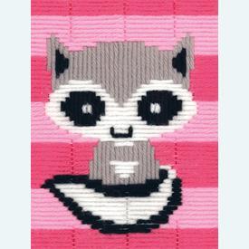 Little Raccoon - Vervaco borduurpakket in platsteek, voor kinderen |  | Artikelnummer: vvc-172111