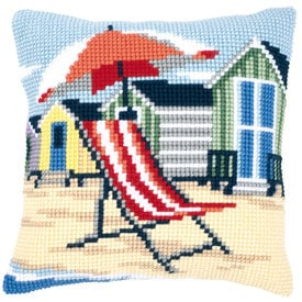 On the Beach - Vervaco Kruissteekkussen |  | Artikelnummer: vvc-145641