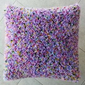 Hippi  - knoopkussen op onbeschilderd stramien | rug + vulkussen inbegrepen | Artikelnummer: nra-21047