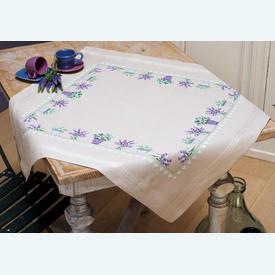 Lavendar theenap - voorgedrukt borduurpakket - Vervaco |  | Artikelnummer: vvc-165238
