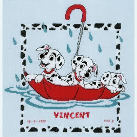Dalmatians - Disney borduurpakket met telpatroon Vervaco |  | Artikelnummer: vvc-183992