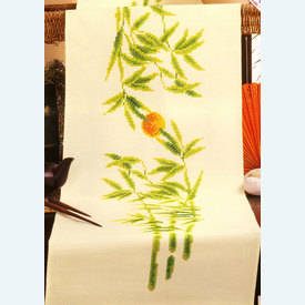 Bamboo - lange loper - voorgedrukt borduurpakket - Vervaco |  | Artikelnummer: vvc-92954