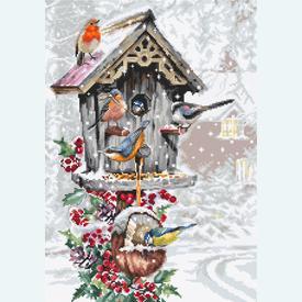 Bird House - borduurpakket met telpatroon Luca-S |  | Artikelnummer: luca-b2399