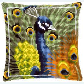 Proud Peacock - Vervaco Kruissteekkussen |  | Artikelnummer: vvc-145700