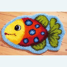 Fish - gevormd knooptapijt Vervaco | Smyrna tapijt met vis | Artikelnummer: vvc-37070