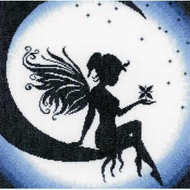 Fairy on the Moon - handwerkpakket met telpatroon Lanarte |  | Artikelnummer: ln-164077