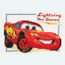 Cars - Lightning McQueen - Disney borduurpakket met telpatroon Vervaco |  | Artikelnummer: vvc-14696