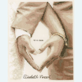 Heart of the Newlyweds - kruissteekpakket met telpatroon Vervaco |  | Artikelnummer: vvc-187247