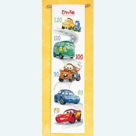 Growing Chart: Cars - Disney borduurpakket met telpatroon Vervaco | Groeimeter Cars | Artikelnummer: vvc-14800