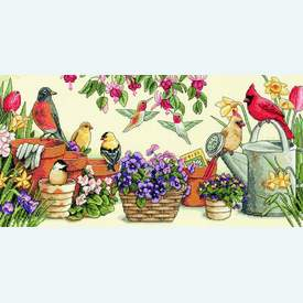 Garden Friends - borduurpakket met telpatroon Dimensions |  | Artikelnummer: dim-13724