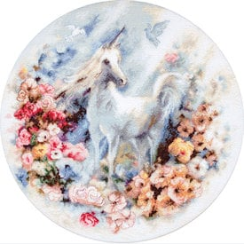 Unicorn - borduurpakket met telpatroon Letistitch |  | Artikelnummer: leti-903