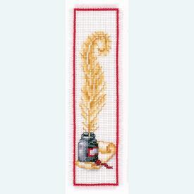 Bladwijzer Feather - borduurpakket met telpatroon Vervaco |  | Artikelnummer: vvc-2002-17521