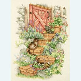 Garden Steps - borduurpakket met telpatroon Dimensions |  | Artikelnummer: dim-70-35362