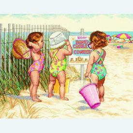 Beach Babies - borduurpakket met telpatroon Dimensions |  | Artikelnummer: dim-35216