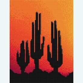 Three Cactusses in the Sunset - borduurpakket met telpatroon Nafra |  | Artikelnummer: nf-nafra21014