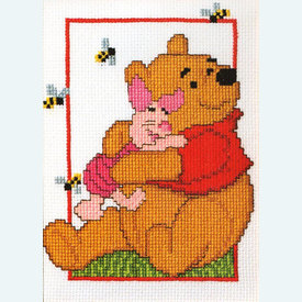 Winnie and Piglet - Disney borduurpakket met telpatroon Vervaco   |  | Artikelnummer: vvc-19024