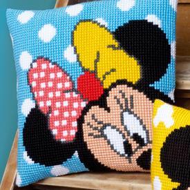 Peek-a-boo - Vervaco Kruissteekkussen - Minnie Mouse - Disney |  | Artikelnummer: vvc-167234