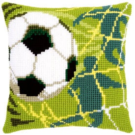 Football - Vervaco Kruissteekkussen | Kruissteekkussen voetbal | Artikelnummer: vvc-150043