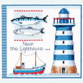 Near the Lighthouse - Vervaco kruissteekpakket met telpatroon |  | Artikelnummer: vvc-145219