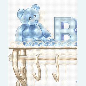 Baby Boy Birth - kruissteekpakket met telpatroon Luca-S |  | Artikelnummer: luca-b1174