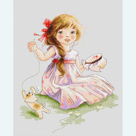 The Embroideress - kruissteekpakket met telpatroon Luca-S |  | Artikelnummer: luca-b1107