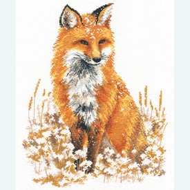 Beautiful Fox - borduurpakket met telpatroon - Oven |  | Artikelnummer: ov-s979