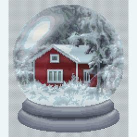 Winter Paradise - Borduurpakket met telpatroon Orcraphics |  | Artikelnummer: orc-2017-02-40