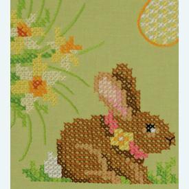 Easter Bunnies loper - voorgedrukt borduurpakket - Vervaco |  | Artikelnummer: vvc-156711