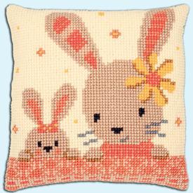 Sweet Bunnies - Vervaco Kruissteekkussen      Artikelnummer: vvc-187190