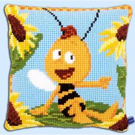 Maya de Bij - Willy on the Sunflower - Vervaco Kruissteekkussen  | Gratis onder voorwaarden  | Artikelnummer: vvc-154468-0-150
