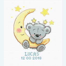 Lucas - geboortepakket met telpatroon Luca-S |  | Artikelnummer: luca-b1146
