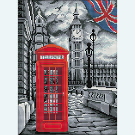 London - Diamond Painting pakket - Diamond Art | Pakket met vierkante diamantjes | Artikelnummer: da-az-1669