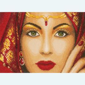 Eastern Beauty - kruissteekpakket met telpatroon Lanarte  |  | Artikelnummer: ln-156937