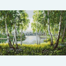 Native Birches - borduurpakket met telpatroon Luca-S |  | Artikelnummer: luca-b526