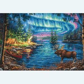 Northern Night - borduurpakket met telpatroon Dimensions |  | Artikelnummer: dim-70-35312