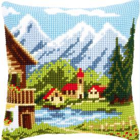 Alpin Village - Vervaco Kruissteekkussen |  | Artikelnummer: vvc-9079