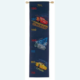 Growing Chart: Lightning McQueen and Friends with Screeching Tires - Disney borduurpakket met telpatroon Vervaco | Groeimeter Cars | Artikelnummer: vvc-167534