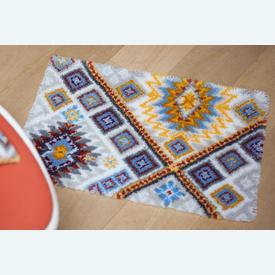 Ethnical - knooptapijt Vervaco | Smyrna tapijt met etnische tekening | Artikelnummer: vvc-157515