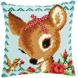 Bambi with a Bow - Vervaco Kruissteekkussen |  | Artikelnummer: vvc-149899