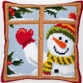 Happy Snowman - Vervaco Kruissteekkussen |  | Artikelnummer: vvc-8519