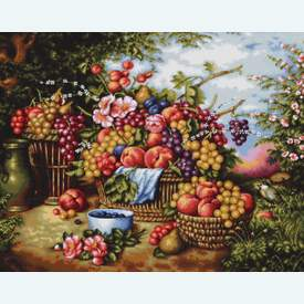 Still Life on Background of Nature -  borduurpakket met telpatroon Luca-S |  | Artikelnummer: luca-b475