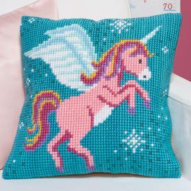 Unicorn - Vervaco Kruissteekkussen |  | Artikelnummer: vvc-166237