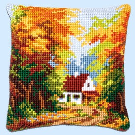 Forest House - Vervaco Kruissteekkussen |  | Artikelnummer: vvc-146247