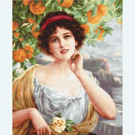 Beauty under the Orange Tree - kruissteekpakket met telpatroon Luca-S |  | Artikelnummer: luca-b546