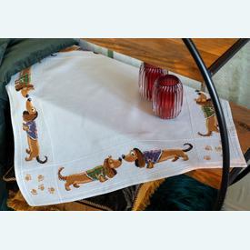 Teckels theenap - borduurpakket met telpatroon Vervaco |  | Artikelnummer: vvc-157621