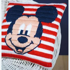 Mickey Mouse - Disney platsteek kussen - Vervaco | Handwerkpakket voor kinderen om zelf te maken | Artikelnummer: vvc-169220
