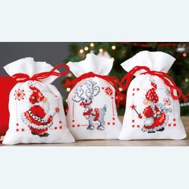 Assortiment kruidenzakjes - Christmas Elves - Handwerkpakketjes met telpatroon Vervaco |  | Artikelnummer: vvc-150688