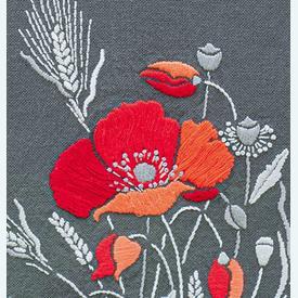 Poppies - loper - voorgedrukt borduurpakket van Vervaco      Artikelnummer: vvc-180735